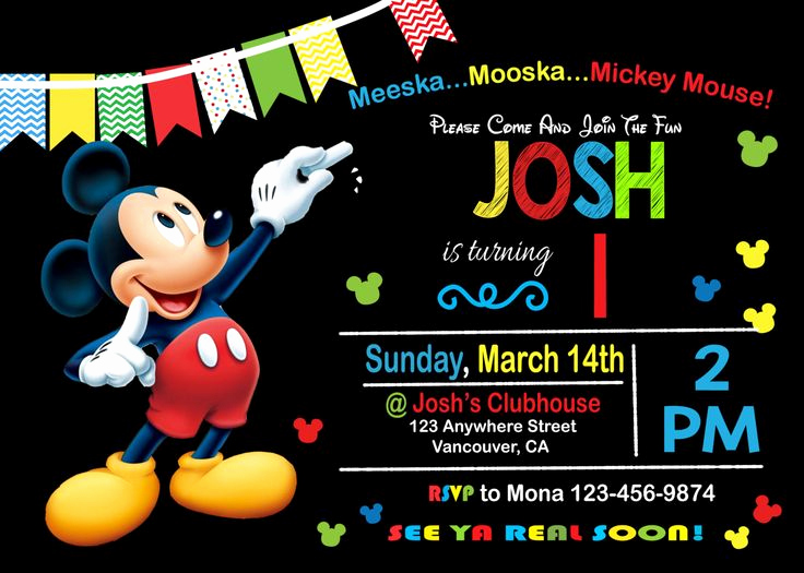 Mickey Mouse Clubhouse Invitation Templates New 25 Best Festa Piquenique Da Minnie E Do Mickey Images On