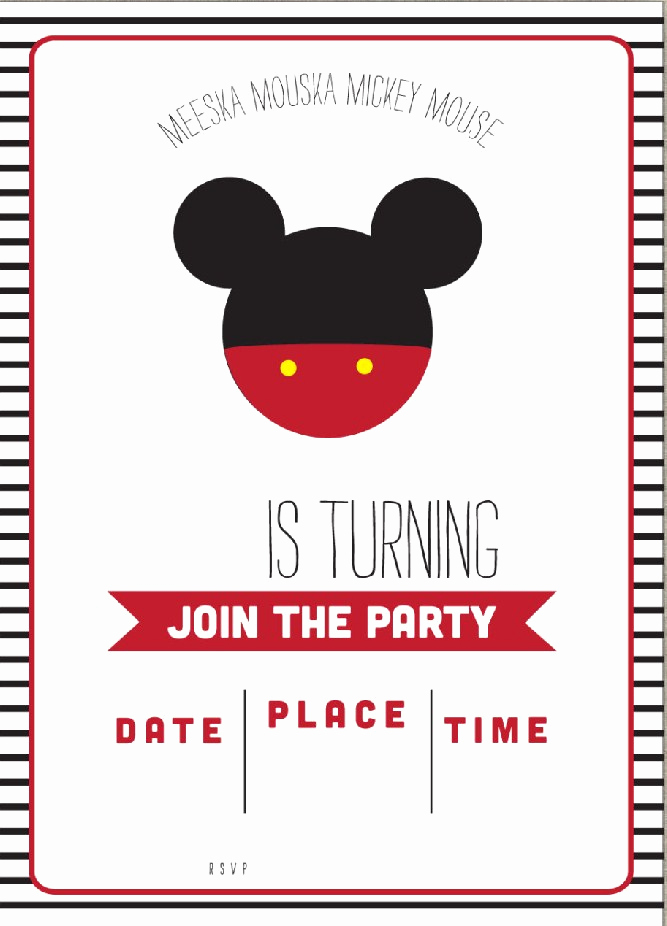 Mickey Mouse Clubhouse Invitation Templates New Free Mickey Mouse Clubhouse Birthday Invitations