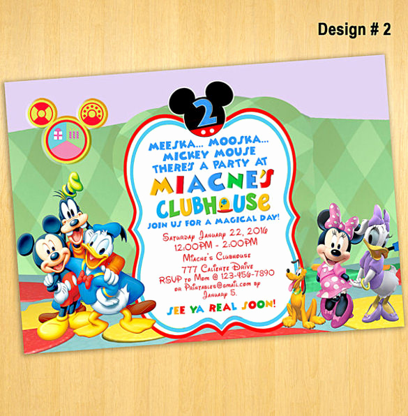 Mickey Mouse Clubhouse Invitation Templates Unique Mickey Mouse Clubhouse Invitation Template