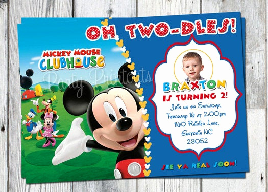 Mickey Mouse Clubhouse Invitation Templates Unique Mickey Mouse Invitation Printable Mickey Mouse Invitation
