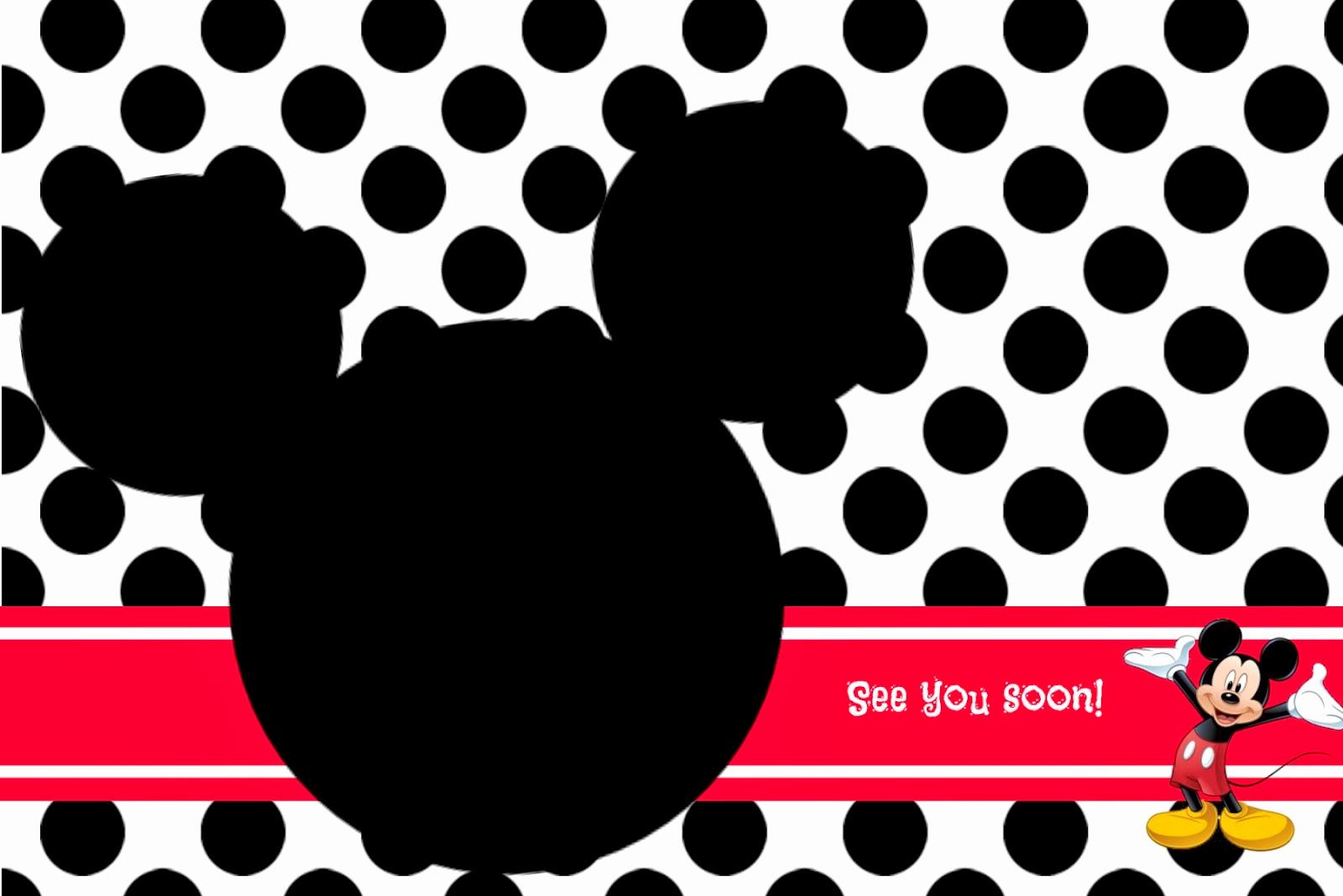 Mickey Mouse Head Invitation Template Awesome Random Ramblings