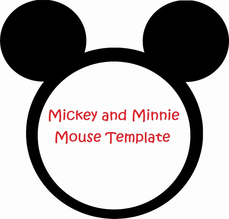 Mickey Mouse Head Invitation Template Elegant Minnie Mouse Cut Outs Printable