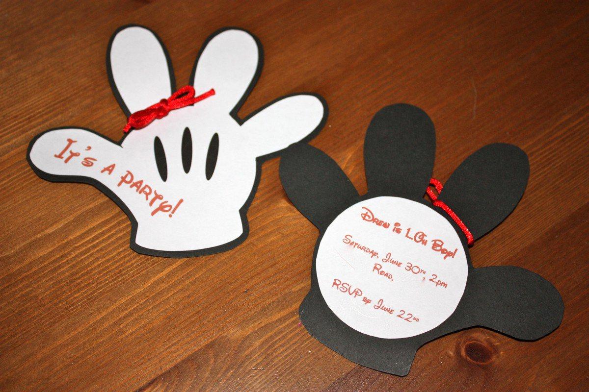 Mickey Mouse Head Invitation Template Fresh Mickey Mouse Clubhouse Birthday Invitation Template Free