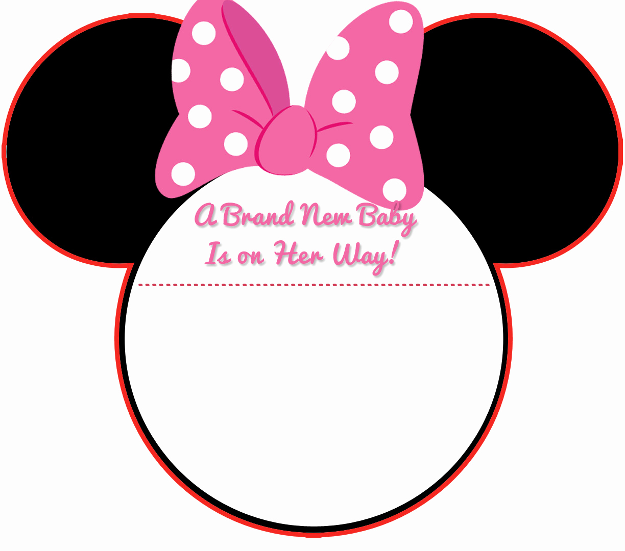 Mickey Mouse Head Invitation Template Luxury New Free Printable Mickey Mouse Baby Shower Invitation