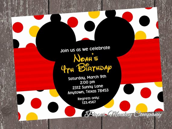 Mickey Mouse Head Invitation Template New 25 Best Ideas About Mickey Mouse Invitation On Pinterest