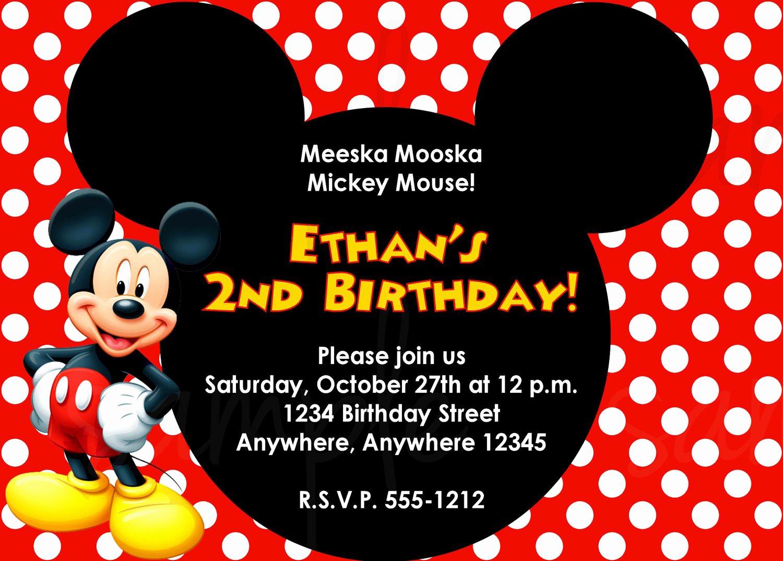 Mickey Mouse Head Invitation Template New Mickey Mouse Head Invitation