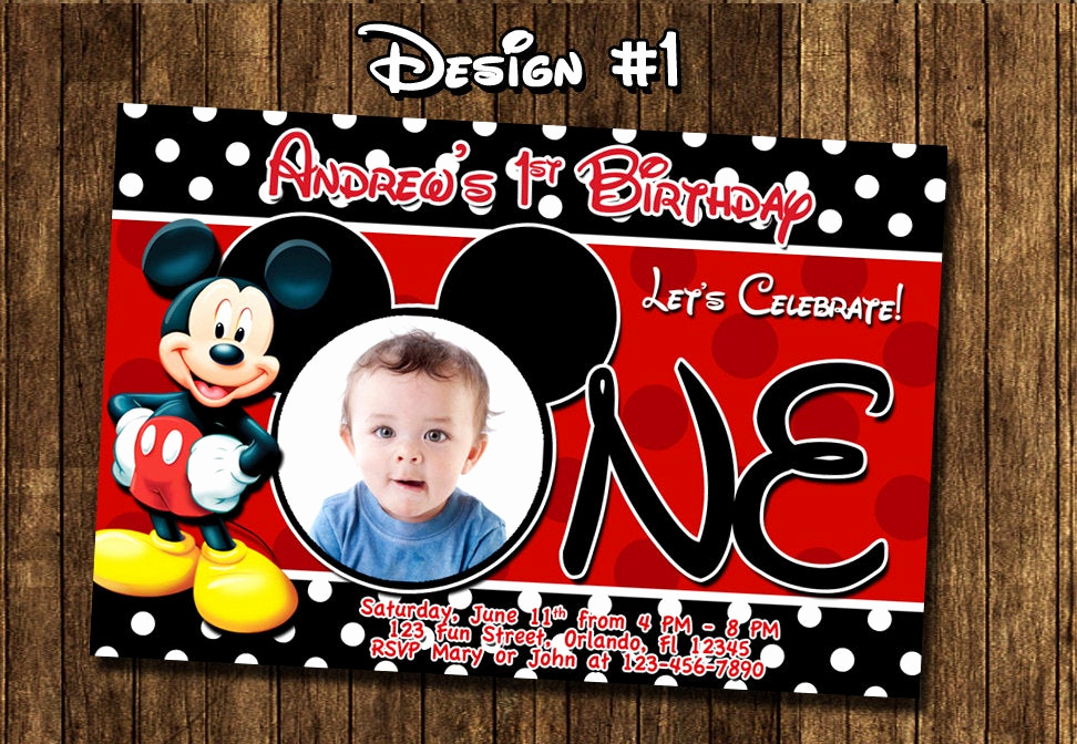 Mickey Mouse Invitation Ideas Awesome Mickey Mouse Baby First Birthday Party Invitations