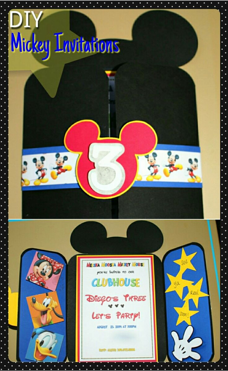 Mickey Mouse Invitation Ideas Beautiful Best 25 Mickey Invitations Ideas On Pinterest