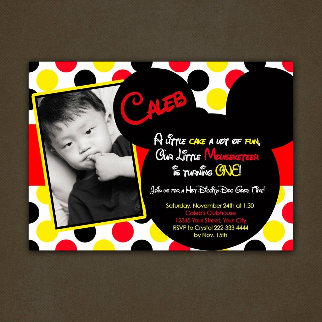 Mickey Mouse Invitation Ideas Beautiful Mickey Mouse Birthday Invitations Personalized