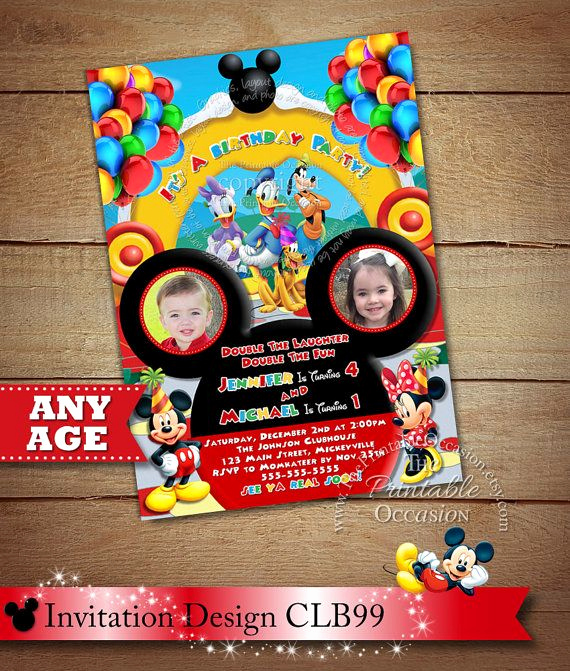 Mickey Mouse Invitation Ideas Best Of 802 Best Mickey Mouse Party Ideas Images On Pinterest