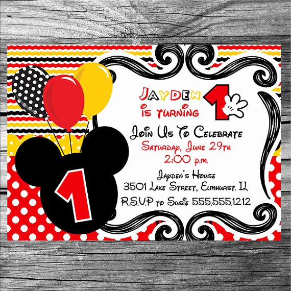Mickey Mouse Invitation Ideas Best Of Boy Mickey Mouse Birthday Invitation Printable by