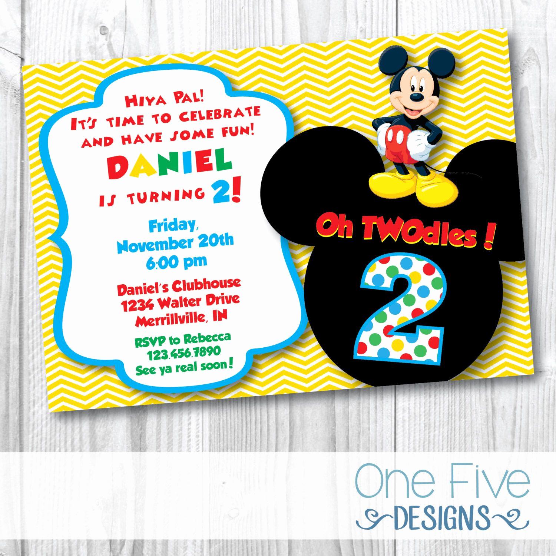 Mickey Mouse Invitation Ideas Elegant Pin by E Five Designs Invitations Save the Dates