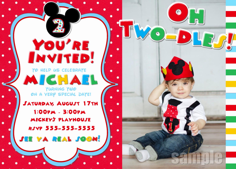 Mickey Mouse Invitation Ideas Lovely Mickey Mouse Clubhouse Invitation Ideas