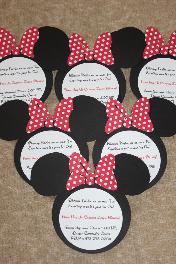 Mickey Mouse Invitation Ideas New Best 25 Mickey 1st Birthdays Ideas On Pinterest