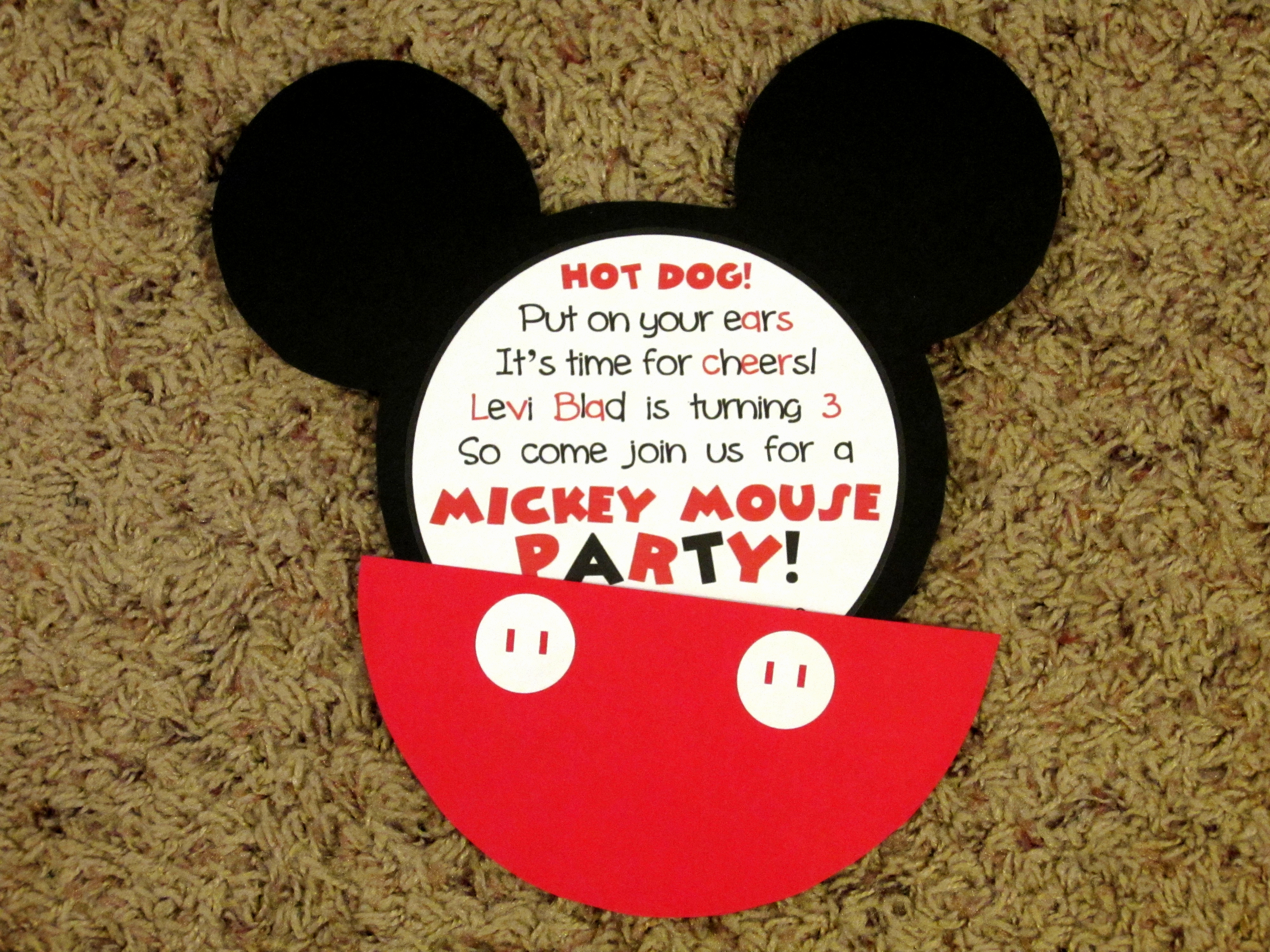 Mickey Mouse Invitation Maker Beautiful Mickey Mouse Invitations Love to Be In the Kitchen