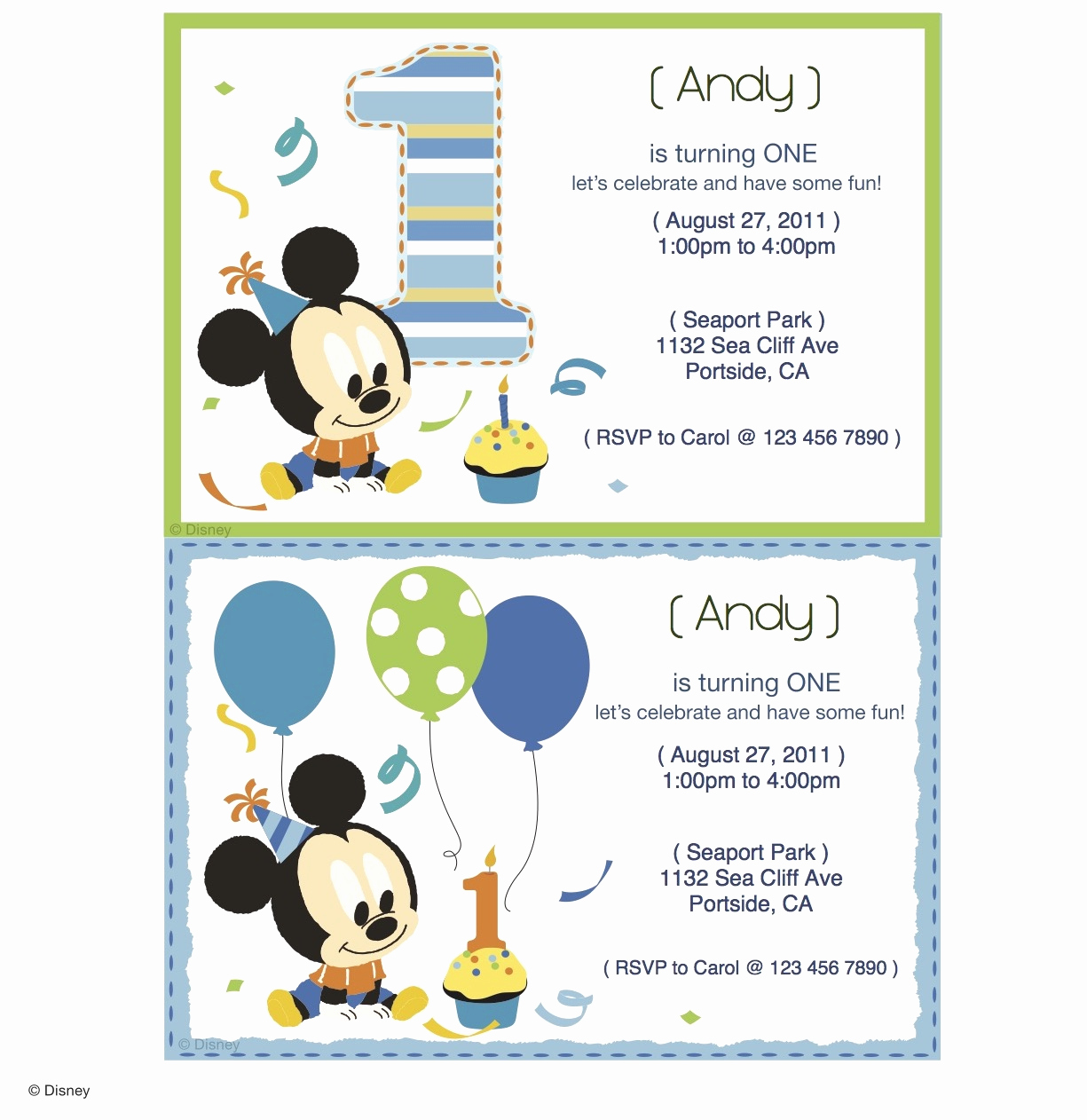 Mickey Mouse Invitation Maker Best Of Mickey Mouse Printable Party Invitations