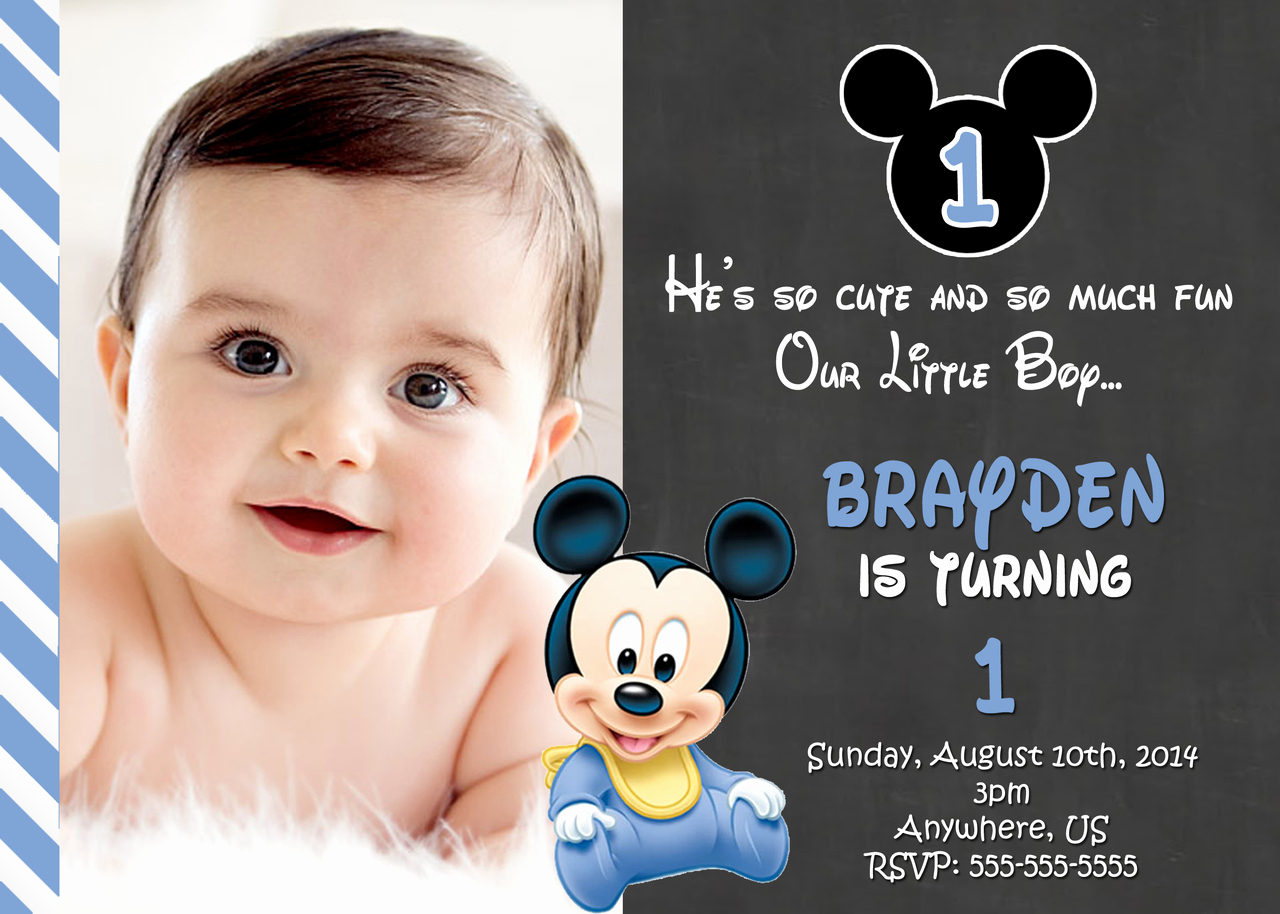 Mickey Mouse Invitation Maker Luxury Free Printable Mickey Mouse 1st Birthday Invitations