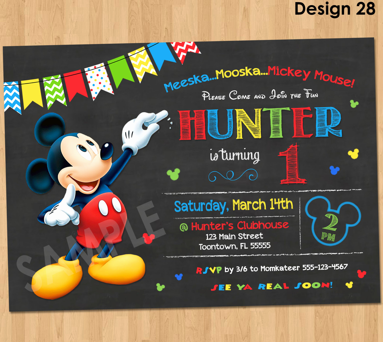 Mickey Mouse Invitation Maker New Mickey Mouse Birthday Invitation Mickey Mouse Clubhouse