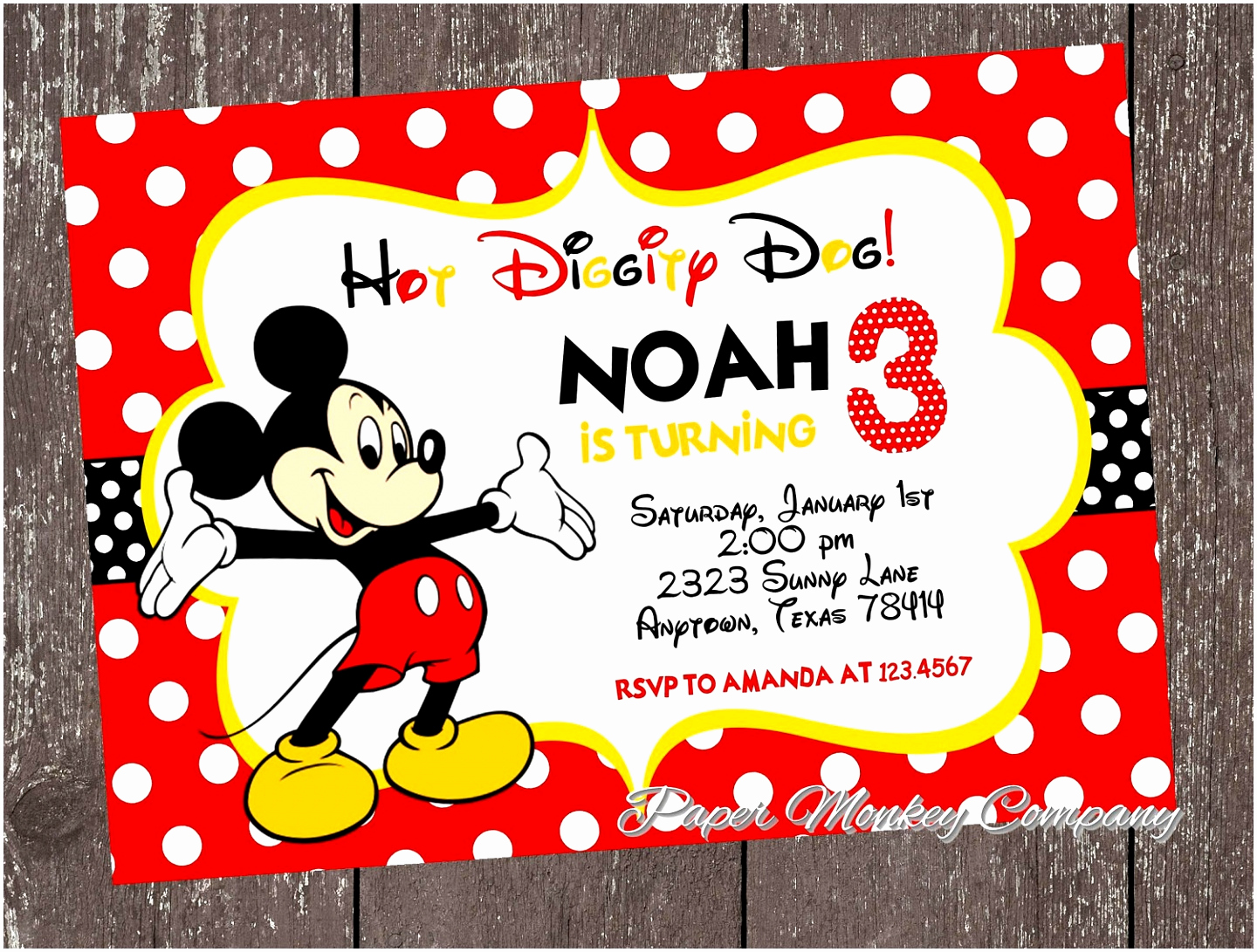Mickey Mouse Invitation Template Awesome 9 Mickey Mouse Clubhouse Invitation Template Zouiy