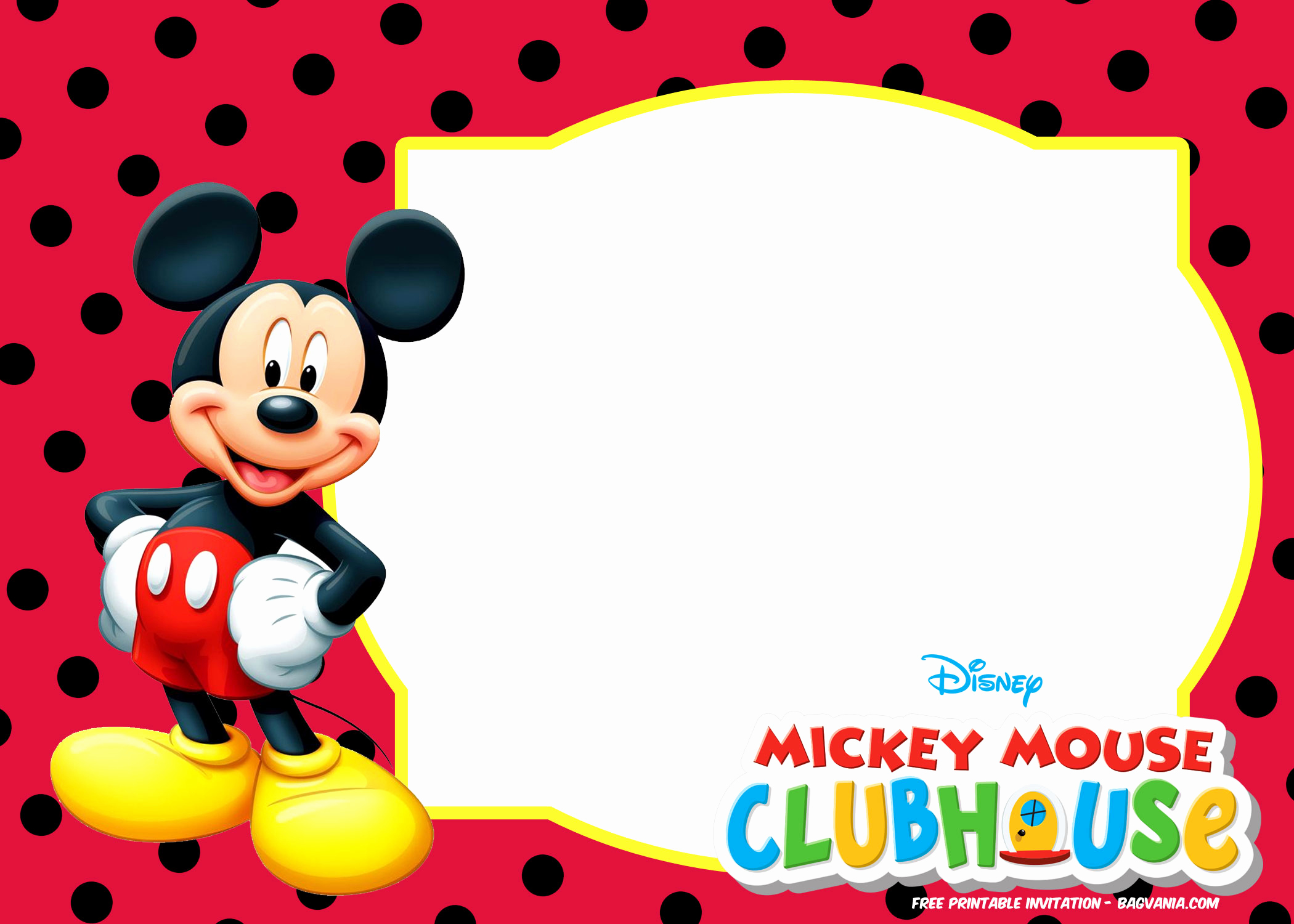 Mickey Mouse Invitation Template Best Of Free Mickey Mouse Summer Birthday Invitations