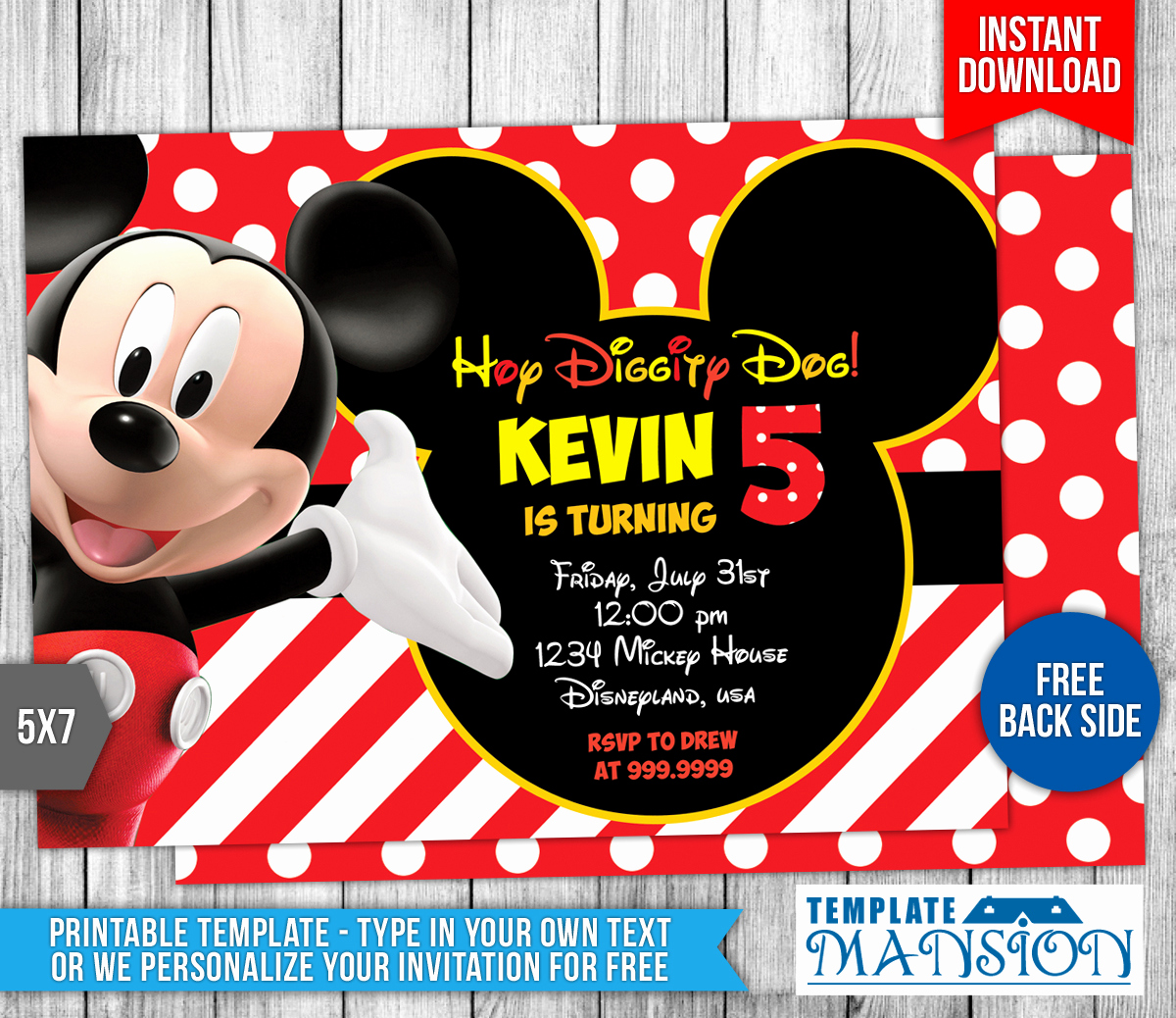 Mickey Mouse Invitation Template Best Of Mickey Mouse Clubhouse Birthday Invitation by