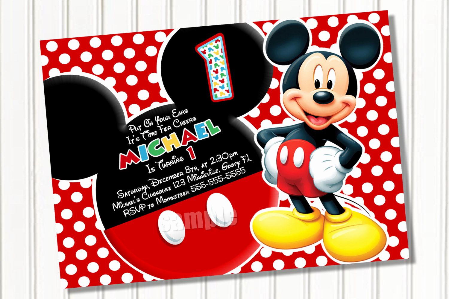 Mickey Mouse Invitation Template Fresh Free Mickey Mouse Template Download Free Clip Art Free