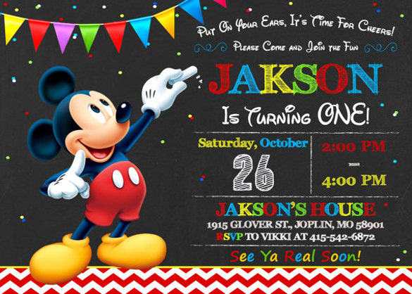 Mickey Mouse Invitation Template Inspirational 30 Mickey Mouse Invitation Template