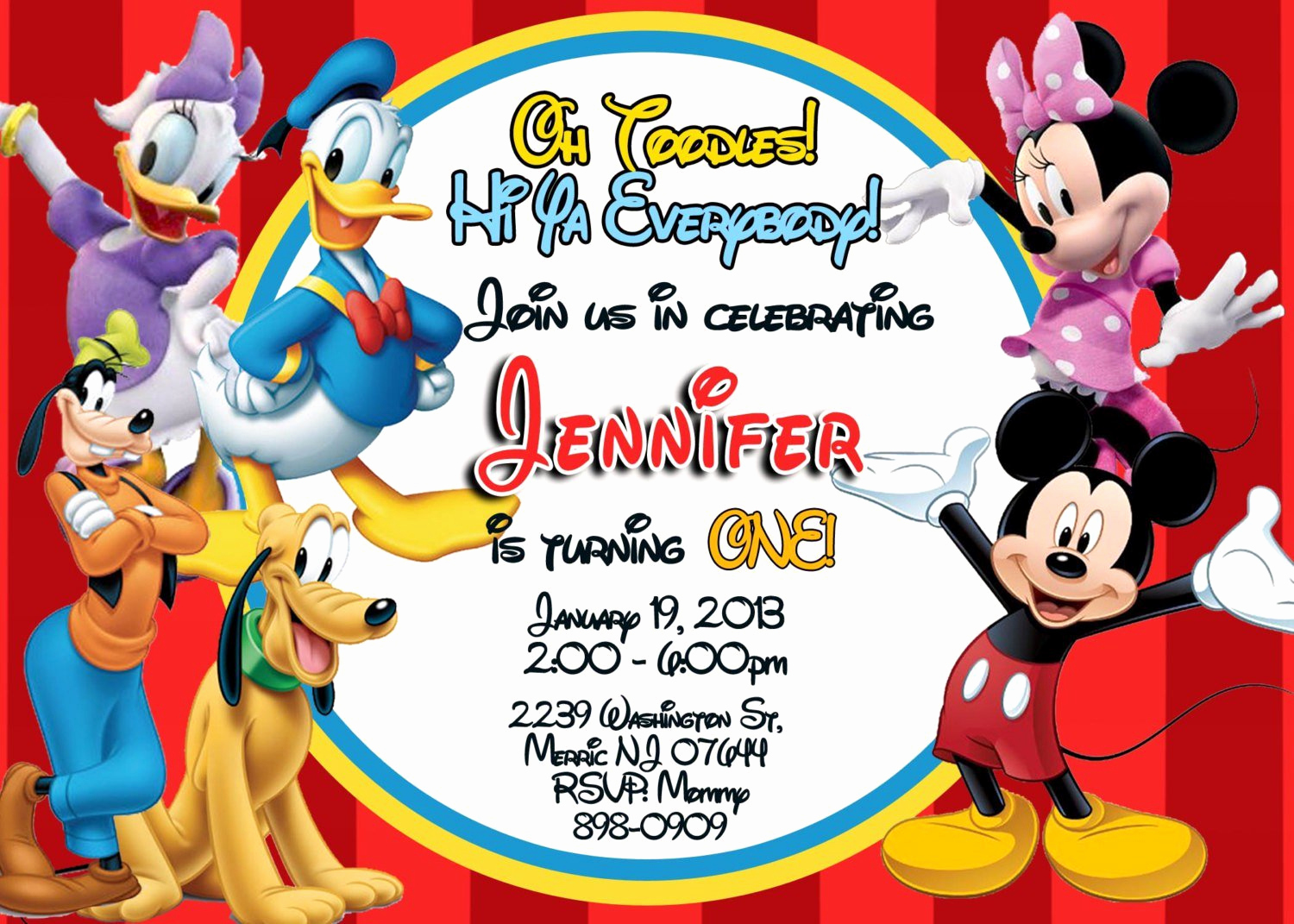 Mickey Mouse Invitation Template Inspirational Exclusive Mickey Mouse Clubhouse Birthday Invitations