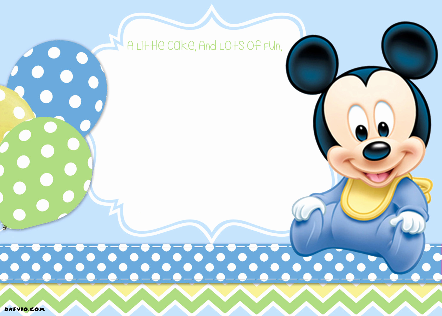 Mickey Mouse Invitation Template Lovely Free Mickey Mouse Clubhouse 1st Birthday Invitations