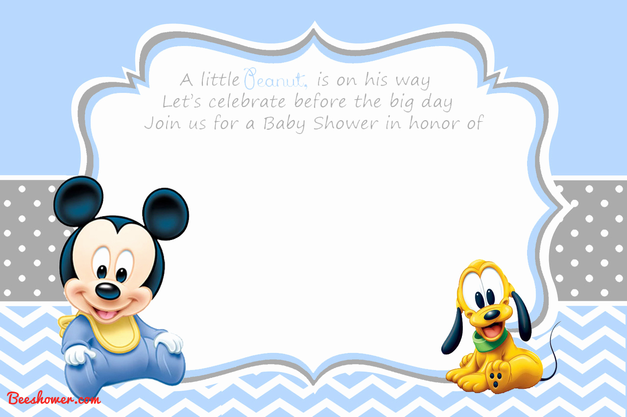 Mickey Mouse Invitation Template Luxury New Free Printable Mickey Mouse Baby Shower Invitation