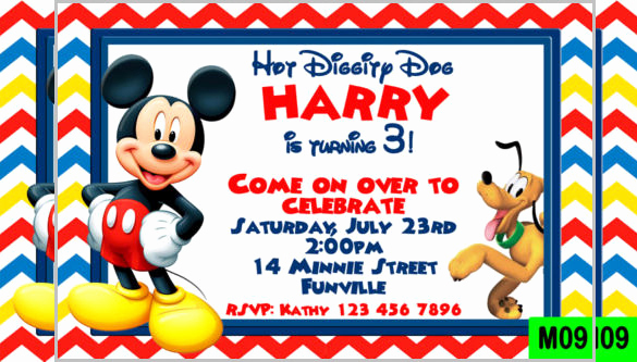Mickey Mouse Invitation Template Unique Mickey Mouse Invitation Templates – 26 Free Psd Vector