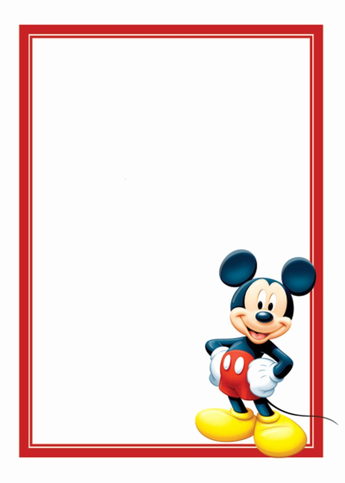 Mickey Mouse Invitation Templates Free Awesome Free Mickey Mouse Invitations Template