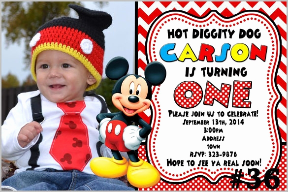 Mickey Mouse Invitation Templates Free Awesome Mickey Mouse Invitation Template