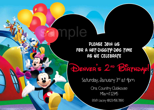 Mickey Mouse Invitation Templates Free Best Of 15 Mickey Mouse Birthday Invitation Templates – Psd