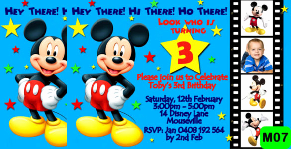Mickey Mouse Invitation Templates Free Best Of 31 Mickey Mouse Invitation Templates Free Sample