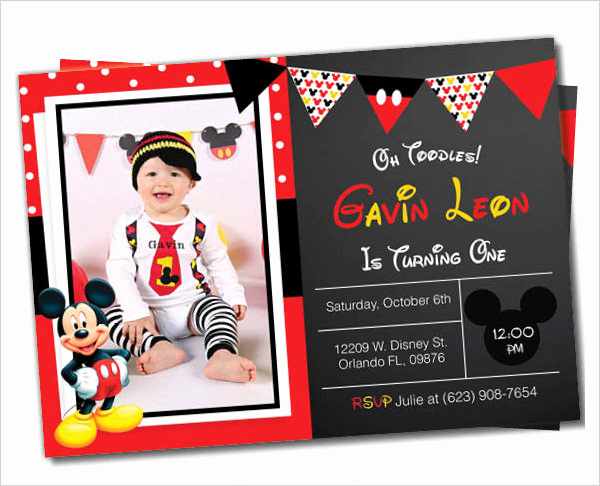 Mickey Mouse Invitation Templates Free Elegant Mickey Mouse Invitation Templates – 26 Free Psd Vector