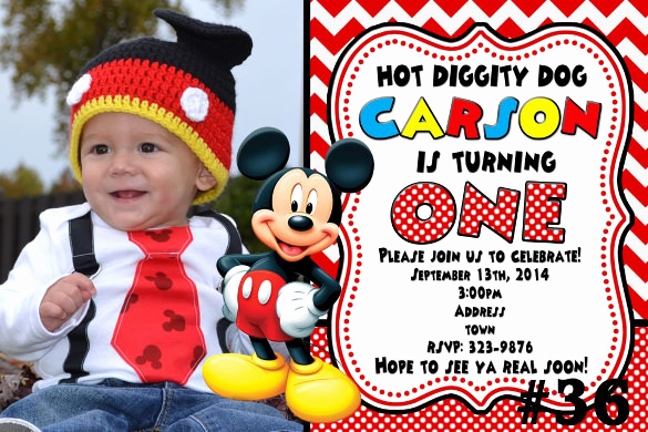 Mickey Mouse Invitation Templates Free Fresh 31 Mickey Mouse Invitation Templates Free Sample