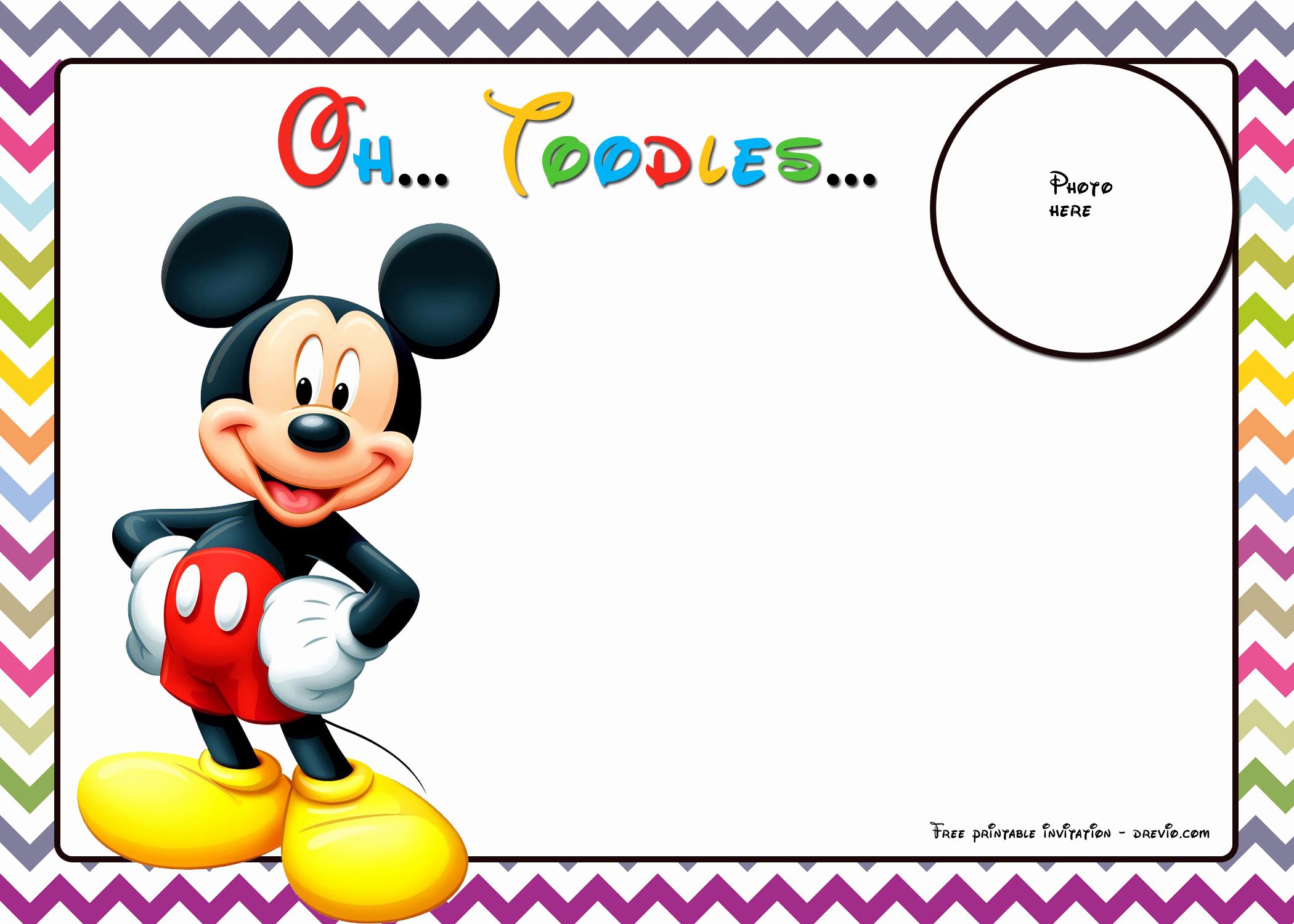 Mickey Mouse Invitation Templates Free Luxury 25 Incredible Mickey Mouse Birthday Invitations