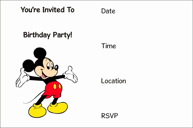Mickey Mouse Invitation Templates Free Luxury Free Printable Mickey Mouse Invitation Archives