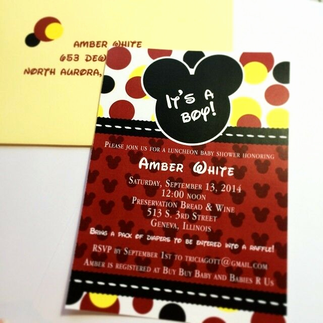 Mickey Mouse Invitation Wording Beautiful Mickey Mouse Baby Shower Invitations Set Of 10 All Wording