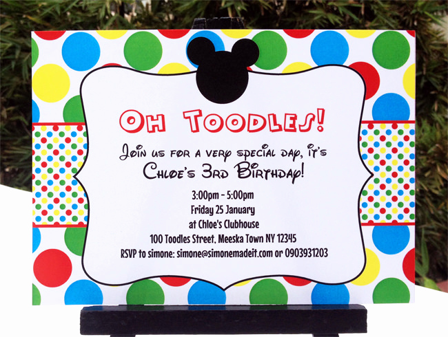 Mickey Mouse Invitation Wording Fresh Mickey Mouse Clubhouse Printable Invitation & Party