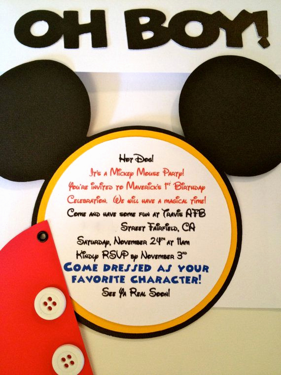 Mickey Mouse Invitation Wording Luxury 24 Best Mickey Mouse Bday Images On Pinterest