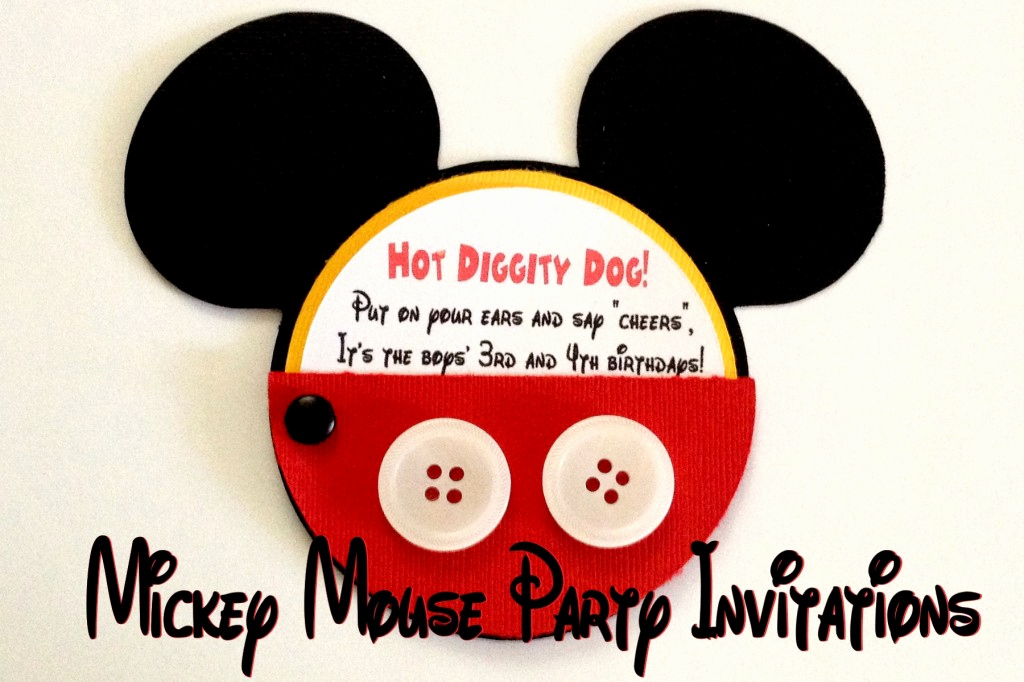 Mickey Mouse Invitation Wording Luxury Mickey Mouse Party Invitations Amy Latta Creations