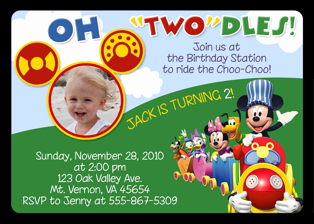 Mickey Mouse Invitation Wording New Mickey Mouse Invitations Birthday Party Invitations Invitation