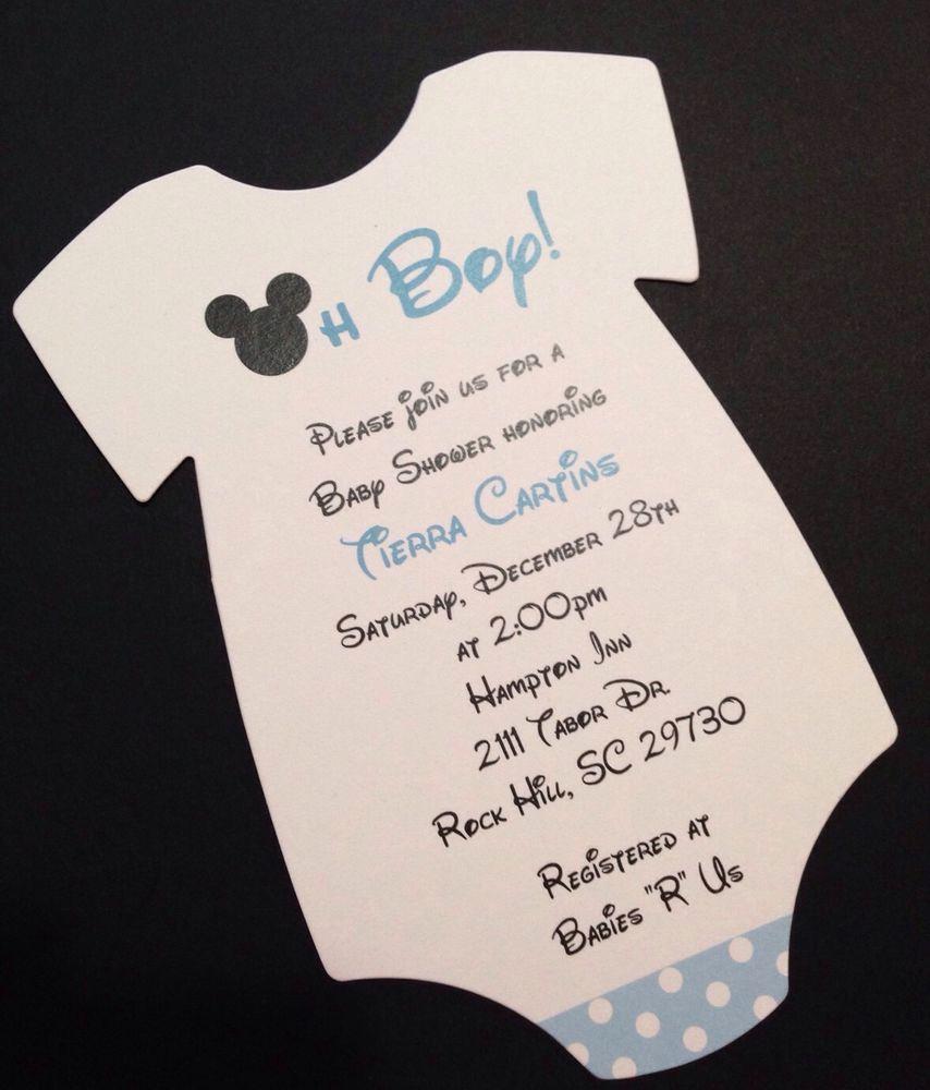 Mickey Mouse Invitation Wording Unique Blue Mickey Mouse Esie Baby Shower Invitation All