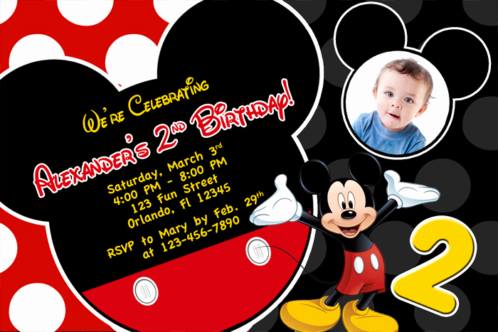 Mickey Mouse Invitation Wording Unique Mickey Mouse 1st Birthday Invitations Ideas – Free
