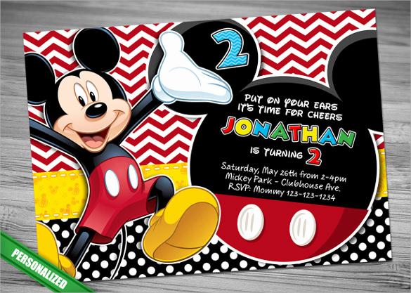 Mickey Mouse Invitation Wording Unique Sample Mickey Mouse Invitation Template 13 Download