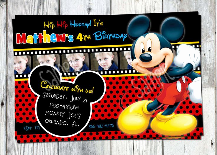 Mickey Mouse Printable Invitation Beautiful Mickey Mouse Invitation Templates