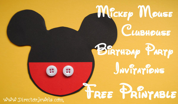Mickey Mouse Printable Invitation Best Of Director Jewels Mickey Mouse Clubhouse Diy Birthday Party