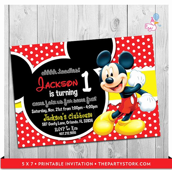 Mickey Mouse Printable Invitation Elegant Best 20 Mickey Mouse Invitation Ideas On Pinterest